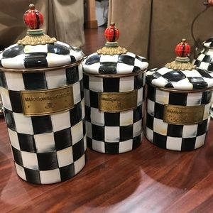 McKenzie childs canister set